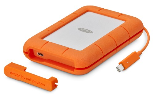 LaCie Rugged Thunderbolt 2000GB Orange external hard drive