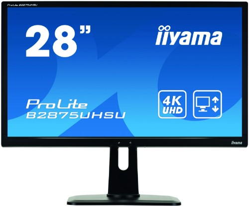 "iiyama ProLite B2875UHSU-B1 28"" 4K Ultra HD LED Matt Flat Black computer monitor"
