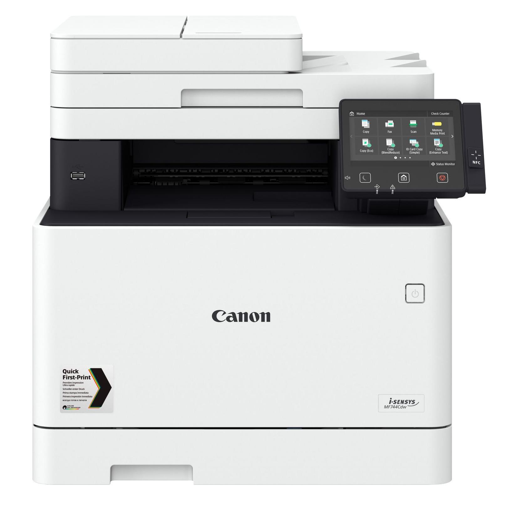 Canon i-SENSYS MF744Cdw Laser A4 1200 x 1200 DPI 27 ppm Wi-Fi