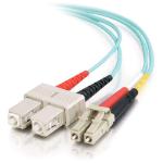 C2G 85537 15m LC SC Turquoise fiber optic cable