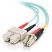 C2G 85537 cable de fibra optica 15 m OFNR LC SC Turquesa