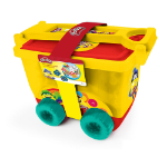 Hasbro My Creative Trolley with 30pcs Creative Accessories Set, Yellow/Red (CPDO148)