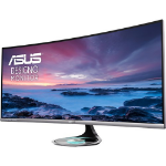 "ASUS MX38VC computer monitor 95.2 cm (37.5"") 3840 x 1600 pixels Ultra-Wide Quad HD+ LED Curved Silver"