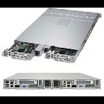 Supermicro 1028TP-DC1R Intel® C612 LGA 2011 (Socket R) Rack (1U) Black