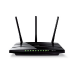 TP-LINK TL-ARCHER-C7 wireless router Gigabit Ethernet Dual-band (2.4 GHz / 5 GHz) Black
