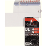 Plus Fabric DL 110gsm Peel and Seal Envelope White PK25