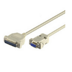 Microconnect 2m 9-pin/25-pin serial cable
