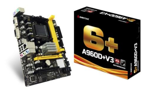 Biostar A960D+V3 motherboard Socket AM3+ Micro ATX AMD 760G