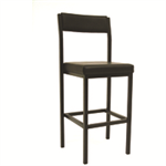 Jemini High Stool with Back Rest Blue