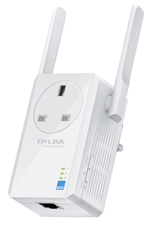 TP-LINK (TL-WA860RE) 300Mbps Wall-Plug Wifi Range Extender AC Passthrough 1 LAN