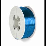 Verbatim 55064 3D printing material Polyethylene Terephthalate Glycol (PETG) Blue, Transparent 1 kg
