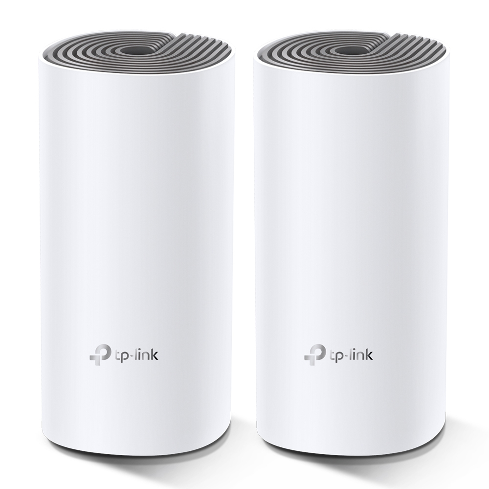 TP-LINK Deco E4 (2-pack) Blanco, Gris Interno Doble banda (2,4 GHz / 5 GHz) Wi-Fi 5 (802.11ac)