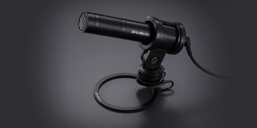 AVerMedia AM133 microphone Black Interview microphone