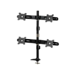 "Amer AMR4P 24"" Bolt-through Black flat panel desk mount"