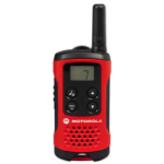 Motorola T40 Walkie Talkie 8channels 0.0125MHz Black, Red two-way radio
