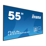 "iiyama LE5540UHS-B1 54.6"" LED 4K Ultra HD Black signage display"