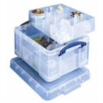 REALUSE REALLY USEFUL 21L BOX WITH DIVIDERS CLR
