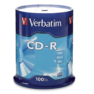 Verbatim Standard 120mm CD-R Media CD-R 700MB 100pc(s)