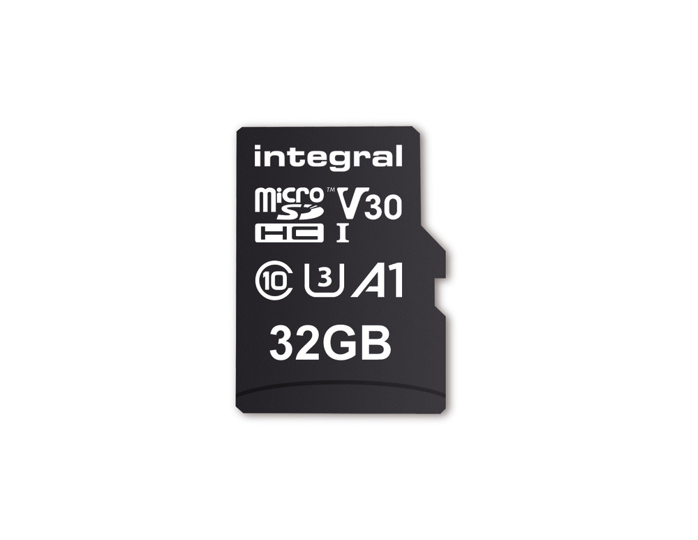 Integral INMSDH32G-100V30 32GB MICRO SD CARD MICROSDHC UHS-1 U3 CL10 V30 A1 UP TO 100MBS READ 30MBS WRITE memory card MicroSD UHS-I