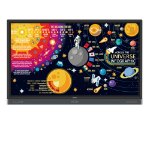 "Benq RP7501K touch screen monitor 190.5 cm (75"") 3840 x 2160 pixels Black Multi-touch Multi-user"