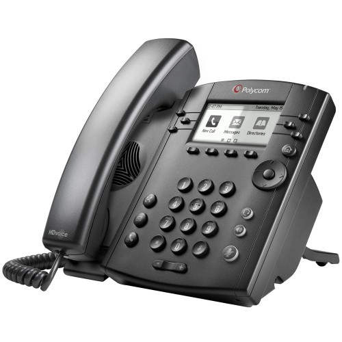 Polycom VVX 311 IP phone Black Wired handset LCD 6 lines