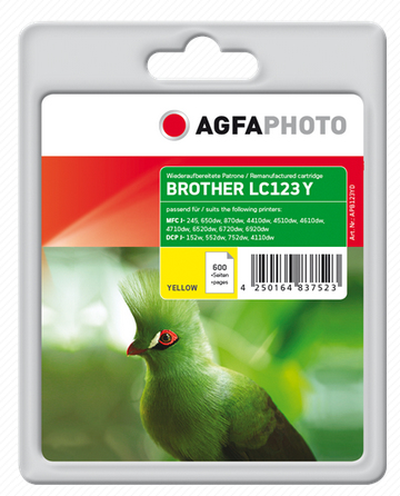 AgfaPhoto APB123YD 11ml 600pages Yellow ink cartridge