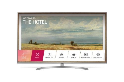 "LG 49UU761H hospitality TV 124.5 cm (49"") 4K Ultra HD 400 cd/m² Silver Smart TV 20 W"