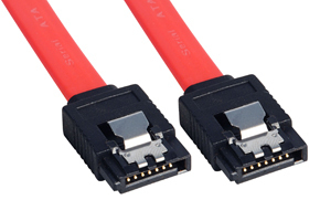 Lindy 0.7m SATA cable Black