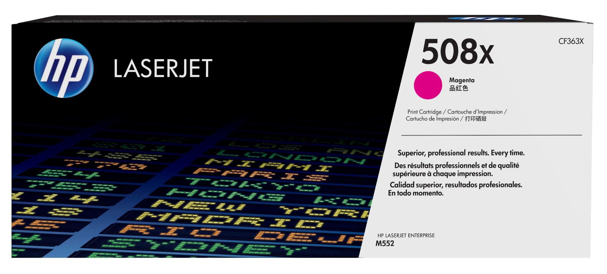 HP Cartucho de tóner original LaserJet 508X de alta capacidad magenta 1 pieza(s)