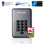 iStorage diskAshur PRO2 256-bit 8TB USB 3.1 secure encrypted solid-state drive IS-DAP2-256-SSD-8000-C-G