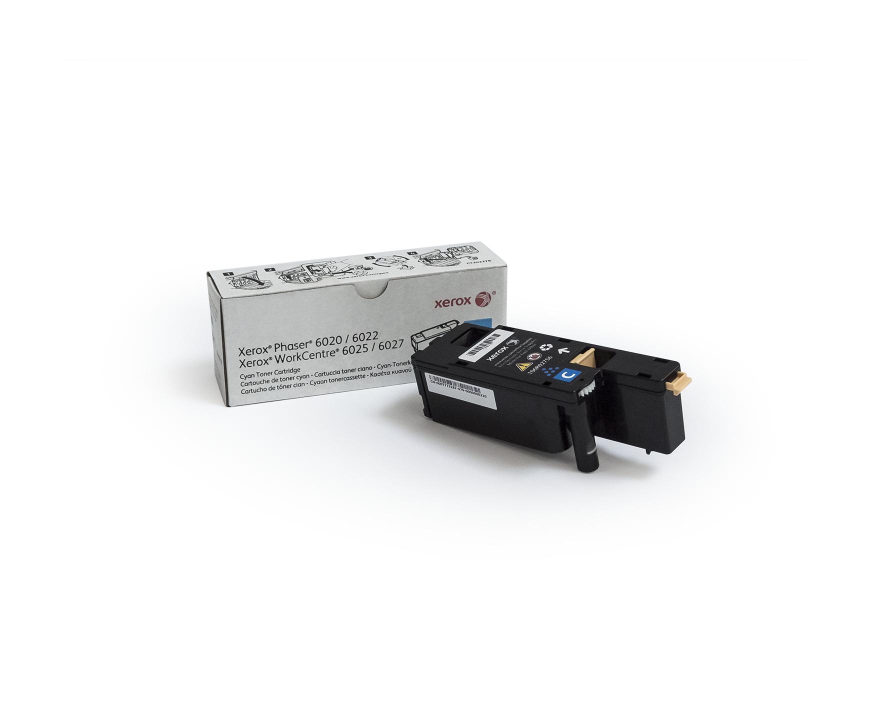 Xerox Phaser 6020/6022 WorkCentre 6025/6027 Cartucho de tóner cián capacidad estándar (1000 págs.)