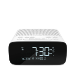 Pure Siesta S2 radio Clock Digital White