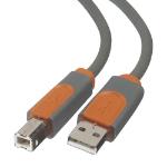 Belkin CU1000CP4.8M USB cable 4.8 m 2.0 USB A USB B Grey