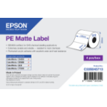 Epson PE Matte Label - Die-cut Roll: 102mm x 76mm, 1570 labels C33S045713