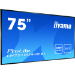 "iiyama LH7510USHB-B1 signage display 190.5 cm (75"") LED 4K Ultra HD Digital signage flat panel Black"