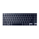 HP 702843-B71 QWERTY Finnish,Swedish Black keyboard