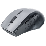 Manhattan Curve Wireless Mouse, Grey/Black, Adjustable DPI (800, 1200 or 1600dpi), 2.4Ghz (up to 10m), USB, Optical, Five Button with Scroll Wheel, USB micro receiver, 2x AAA batteries (included), Low friction base, Blister