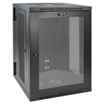 Tripp Lite 18U Low-Profile Wall Mount Rack Enclosure Server Cabinet with Acrylic Window, Switch-Depth, Hinged Back
