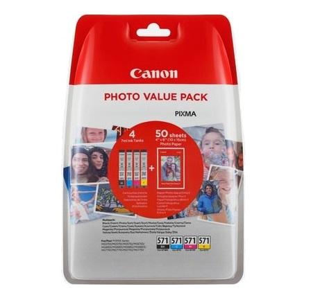 Canon CLI-571XL Original Negro, Cian, Magenta, Amarillo