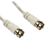 Cables Direct 2FW-01 coaxial cable 1 m F-Type White