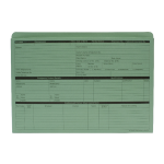 Custom Forms Value Personnel Wallet Green Pack of 50