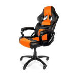 Arozzi Black & Orange Monza Adjustable Ergonomic Motorsports Inspired Desk Chair