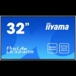 "iiyama ProLite LE3240S-B1 Digital signage flat panel 80 cm (31.5"") LED Full HD Black"