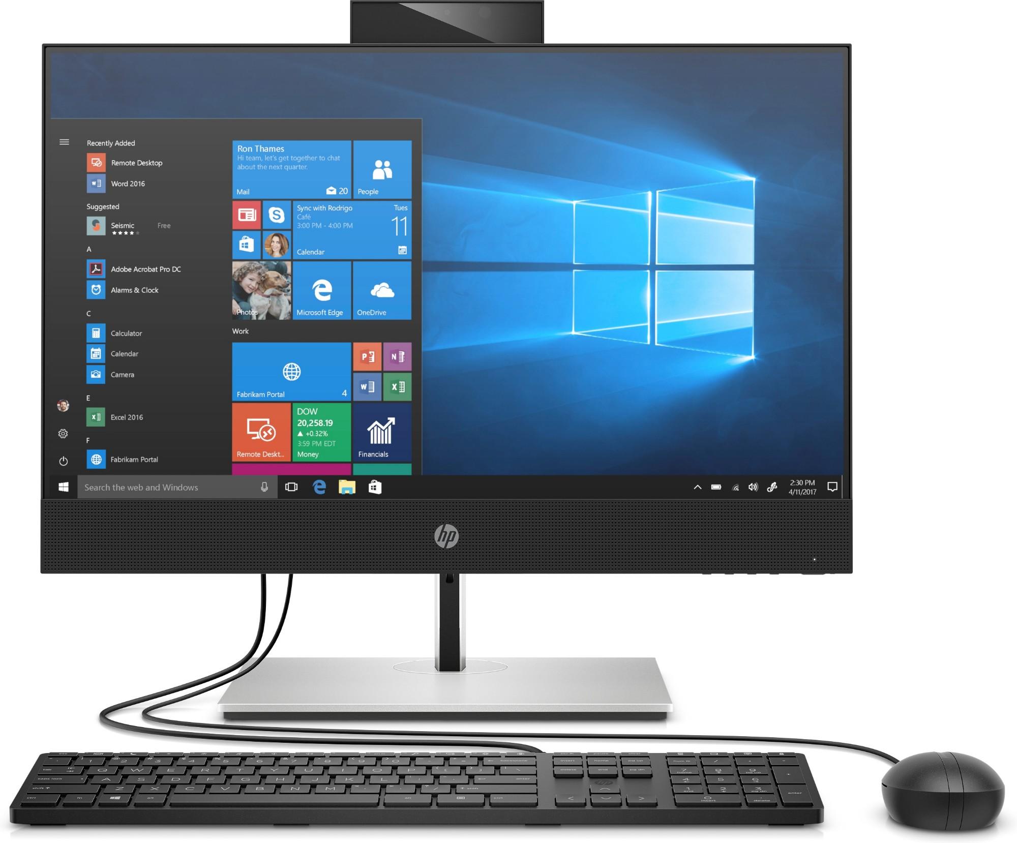 """HP ProOne 440 G6 60.5 cm (23.8"""") 1920 x 1080 pixels 10th gen Intel® Core™ i5 8 GB DDR4-SDRAM 256 GB SSD Windows 7 Professional Wi-Fi 6 (802.11ax) All-in-One PC Silver"""