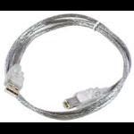 Microconnect USBAB5T USB cable 5 m USB A USB B Transparent
