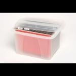 MARBIG PORTA FILE BOX CRYSTALFILE CLEAR ( EACH )