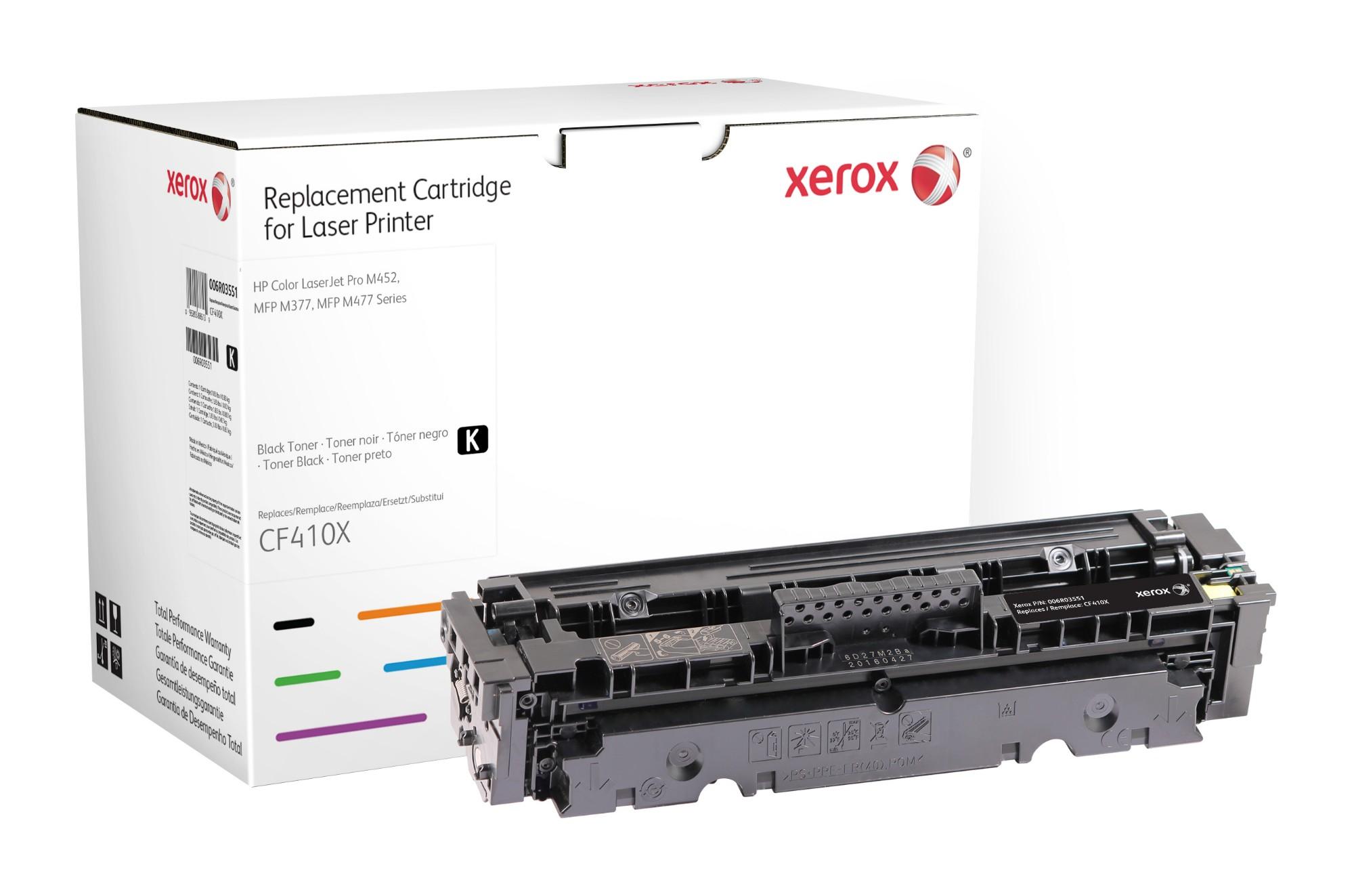 Xerox Cartucho de tóner negro. Equivalente a HP CF410X. Compatible con HP Color LaserJet Pro MFP M477, LaserJet Pro MFP M377, Pro M452
