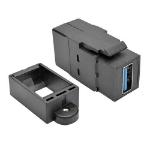 Tripp Lite U325-000-KP-BK USB 3.0 All-in-One Keystone/Panel Mount Coupler (F/F), Black