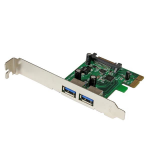 StarTech.com 2 Port PCI Express (PCIe) SuperSpeed USB 3.0 Card Adapter with UASP - SATA Power interface cards/adapter