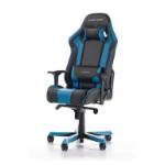 DXRacer KS06 Series Gaming Chair, Neck/Lumbar Support - Black & Blue